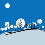 Зима на холмах Стоковое Изображение RF