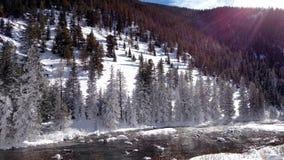 Зима на холме Стоковая Фотография