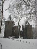 Зима на человеческом замке Coch около Кардиффа Стоковые Изображения RF