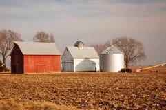 Зима на Farmt стоковые изображения rf
