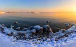 Зима на Lake Ladoga стоковое фото