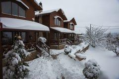 Зима на Trikala Korinthias, Пелопоннесе, Греции Стоковые Изображения RF
