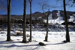 Зима Новой Англии Стоковое фото RF