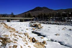 Зима Новой Англии Стоковое Изображение RF