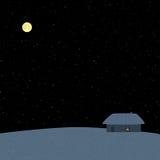 зима ночи звёздная Стоковые Фотографии RF