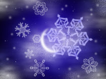 зима ночи иллюстрация штока