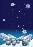 зима ночи Стоковая Фотография