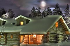 зима ночи s Стоковое Изображение