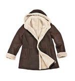 зима овчины пальто стоковая фотография