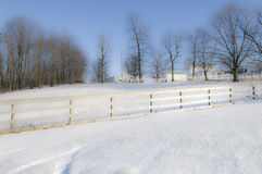зима Огайо ландшафта Стоковое Изображение RF