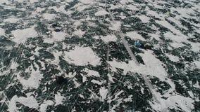 зима озера льда baikal плавя видеоматериал