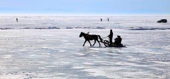 зима озера baikal Стоковые Изображения