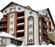 Зима 4 дома снежная Стоковая Фотография RF