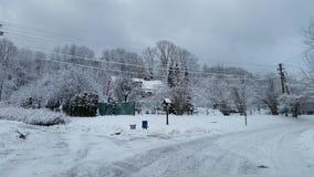 зима дома Стоковые Изображения