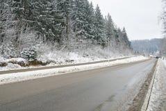 зима дороги сельская Стоковое Изображение RF