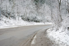 зима дороги сельская Стоковое фото RF