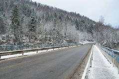 зима дороги сельская Стоковые Фото