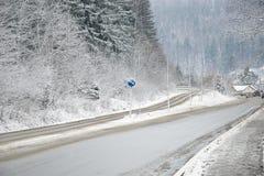 зима дороги сельская Стоковое Изображение