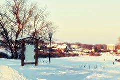Зима освещает указатель Стоковая Фотография
