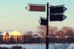 Зима освещает указатель Стоковые Фото