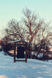 Зима освещает указатель Стоковое фото RF
