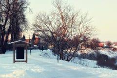 Зима освещает указатель Стоковое Фото