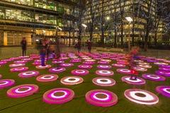 Зима освещает фестиваль на канереечном причале Стоковое фото RF