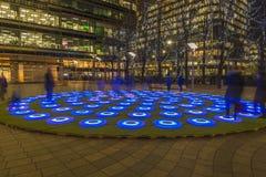 Зима освещает фестиваль на канереечном причале Стоковые Фото