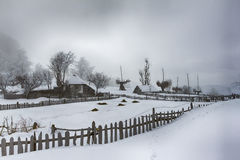 Зима особняка Стоковые Фотографии RF