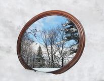 зима отражения стоковое изображение