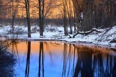зима отражения Стоковая Фотография
