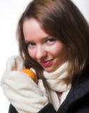 зима одежд модельная представляя Стоковое Изображение