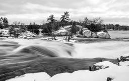 Зима падений Burleigh - B&W стоковые изображения