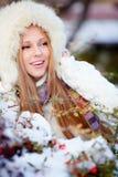 зима парка девушки Стоковые Изображения