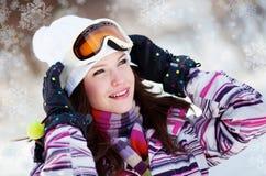 зима парка девушки Стоковое фото RF