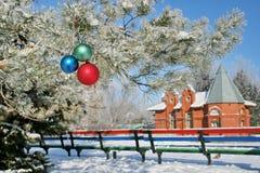 зима парка дома стенда малая Стоковое Изображение RF