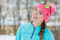 зима парка девушки сь Стоковое Изображение RF