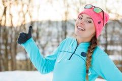 зима парка девушки сь Стоковое Фото