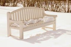 зима парка стенда Стоковые Изображения RF