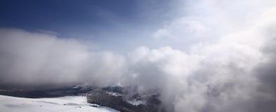 зима пейзажа гор Стоковые Изображения