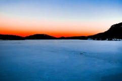 зима пейзажа реки Стоковое фото RF