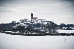 зима пейзажа скита andechs Стоковое Фото