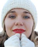 зима перчаток девушки Стоковые Изображения RF