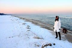 зима пляжа Стоковое Изображение RF