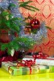 зима подарков рождества предпосылки fest Стоковые Фото
