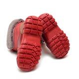 зима подошвы шерсти ботинка младенца Стоковое Изображение