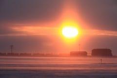 зима поезда вьюги Стоковые Изображения RF