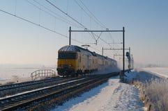 зима поезда Стоковые Изображения