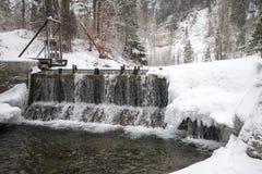 Зима покрыла долину в Spearfish, SD стоковая фотография rf
