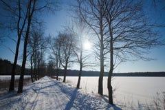 зима Польши ландшафта стоковые фотографии rf